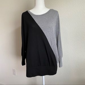 French Laundry Woman Black Gray Sweater 14/16